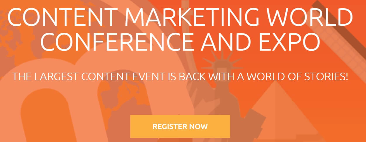 Content marketing conference event page