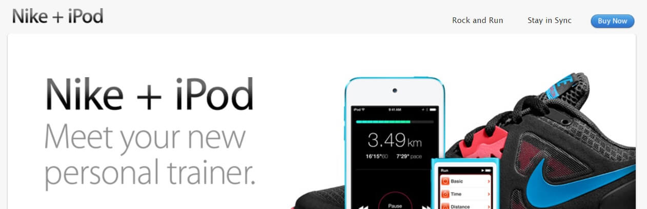 The Nike and iPod partnership