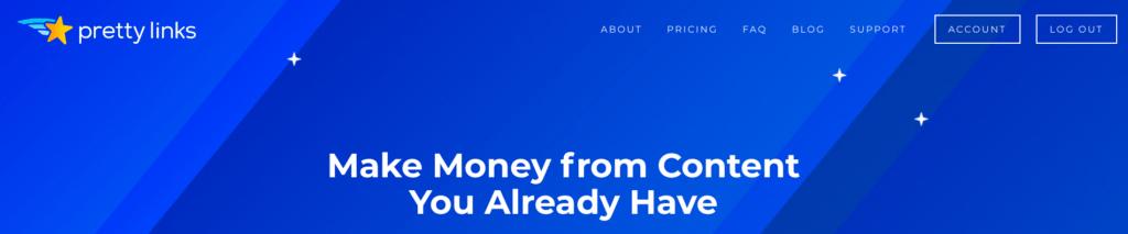 pretty links header