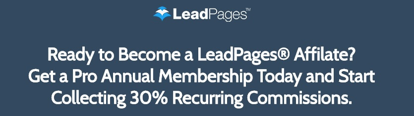 LeadPages sign-up incentive for affiliates