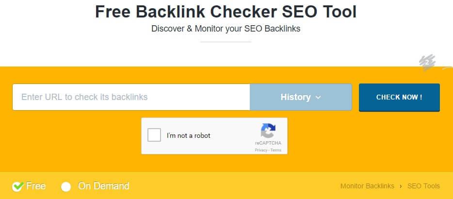 Monitor Backlinks Free Backlink Checker SEO Tool