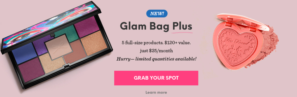An example of a prominently displayed CTA button on Ipsy.