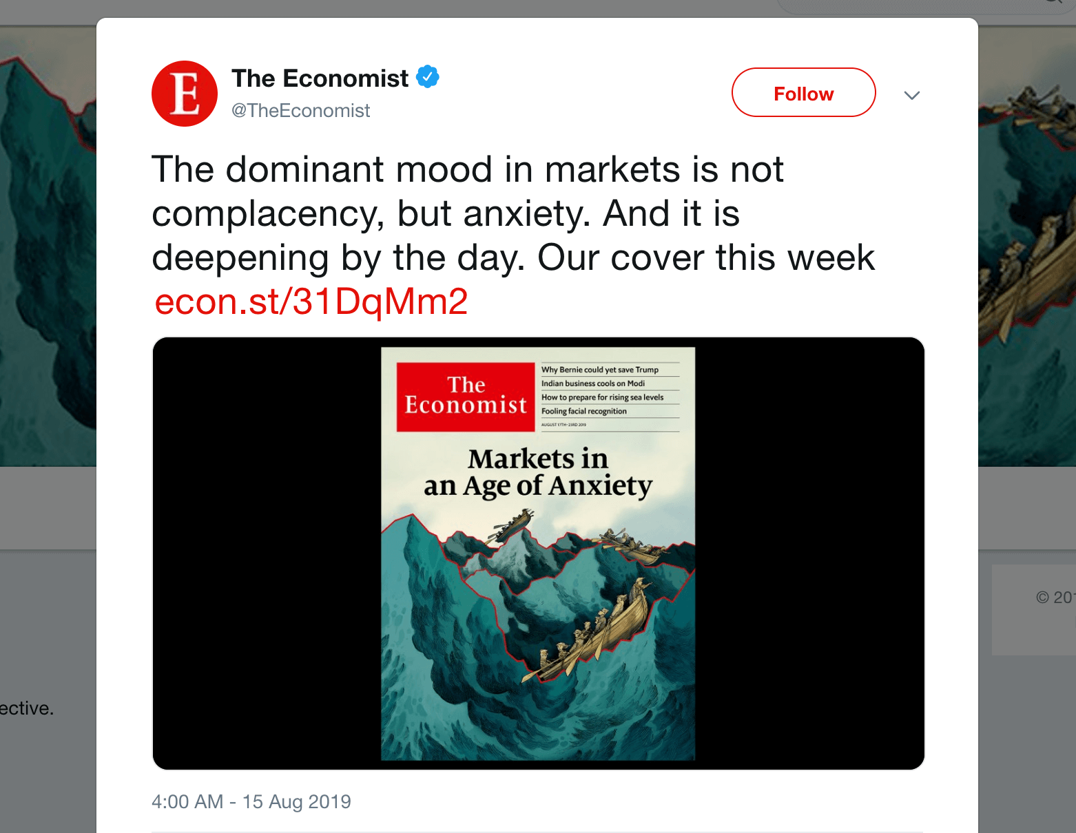 A short link in a Tweet from the Economist.