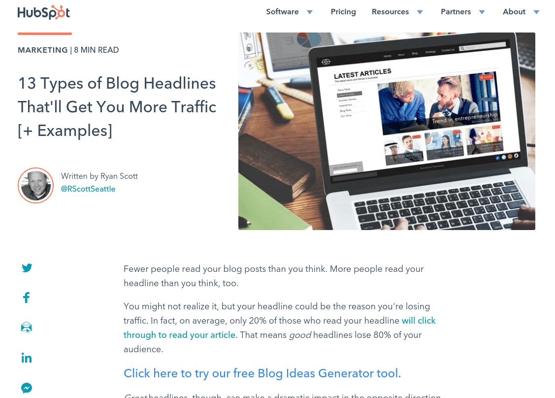 A HubSpot blog post.