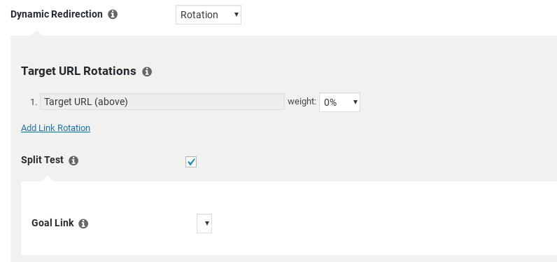Pretty Links plugin settings.