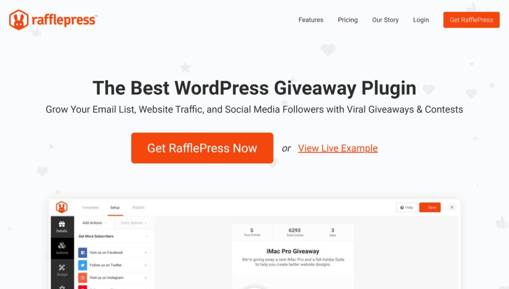 The RafflePress plugin.