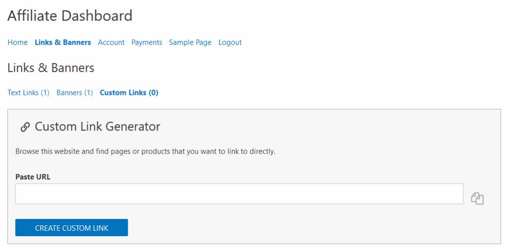 Easy Affiliate Custom Link Generator